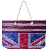 Two Flags American And British Weekender Tote Bag