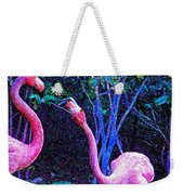 Two Flamingos Weekender Tote Bag
