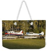 Two Float Planes On Moosehead Lake Near Greenville Maine  Weekender Tote Bag