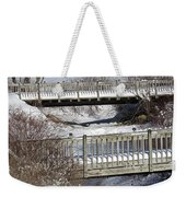 Two Foot Bridges Weekender Tote Bag