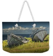 Two Forlorn Abandoned Boats On Prince Edward Island Weekender Tote Bag