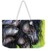 Two Fresian Horses Weekender Tote Bag