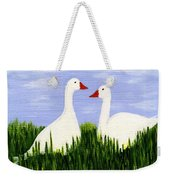 Two Geese Weekender Tote Bag