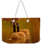 Two Geese In A Line Weekender Tote Bag