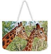 Two Giraffes Weekender Tote Bag