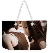 Two Girls Weekender Tote Bag