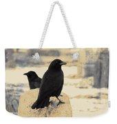 Two Graveyard Blackbirds Weekender Tote Bag