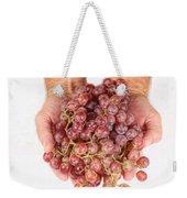 Two Handfuls Of Red Grapes Weekender Tote Bag