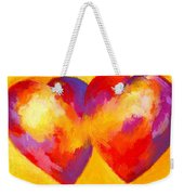 Two Hearts Beat As One Weekender Tote Bag