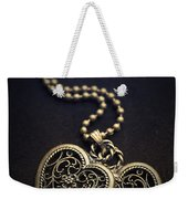 Two Hearts Weekender Tote Bag