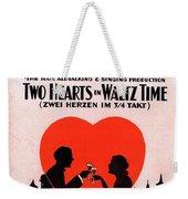 Two Hearts Weekender Tote Bag