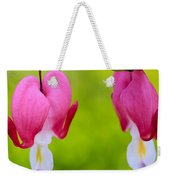 Two Hearts Valentine's Day Weekender Tote Bag