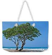 Two Heliotrope Trees On Tropical Beach Art Prints Weekender Tote Bag