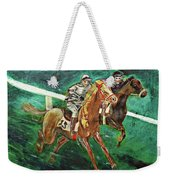 Two Horse Race Weekender Tote Bag
