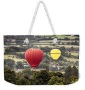 Two Hot Air Baloons Drifting Weekender Tote Bag