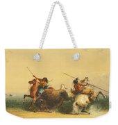 Two Indians Killing A Buffalo Weekender Tote Bag