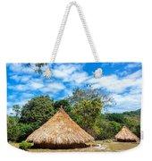 Two Indigenous Huts Weekender Tote Bag