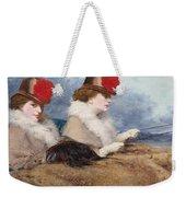 Two Ladies In A Carriage Ride Weekender Tote Bag