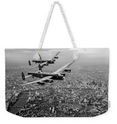 Two Lancasters Over London Black And White Version Weekender Tote Bag