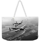 Two Lancasters Over The Upper Thames Black And White Version Weekender Tote Bag