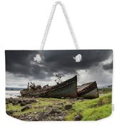 Two Large Boats Abandoned On The Shore Weekender Tote Bag