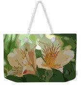 Two Lilies Cutout Weekender Tote Bag