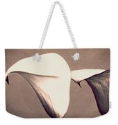 Two Lilies In Sepia Weekender Tote Bag