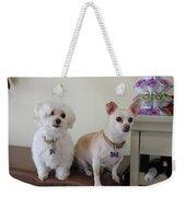 Two Little Dog Weekender Tote Bag