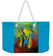 Two Little Girls Carrying Water Weekender Tote Bag