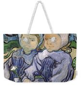 Two Little Girls Weekender Tote Bag by Vincent Van Gogh