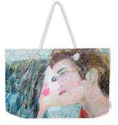 Two Lovers Kissing Weekender Tote Bag
