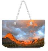 Sinopah Mountain And Two Medicine Lake Sunrise Glacier National Park Montana Weekender Tote Bag