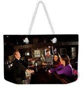 Two Men And Two Women Having Beer Weekender Tote Bag