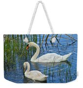 Two Mute Swans Weekender Tote Bag