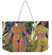 Two Nude Women In A Wood Weekender Tote Bag