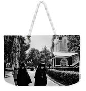 Two Nuns- Black And White - Novodevichy Convent - Russia Weekender Tote Bag