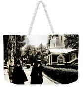 Two Nuns - Sepia - Novodevichy Convent - Russia Weekender Tote Bag