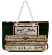 Two Old Cigarette Boxes Weekender Tote Bag