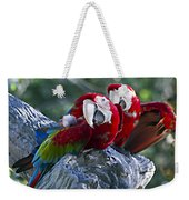 Two On A Branch Two Weekender Tote Bag