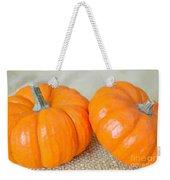 Two Orange Pumpkins Weekender Tote Bag
