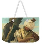 Two Orientals Seated Under A Tree Weekender Tote Bag