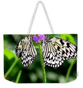 Two Paper Kite Or Rice Paper Or Large Tree Nymph Butterfly Also Known As Idea Leuconoe Weekender Tote Bag