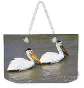 Two Pelicans Weekender Tote Bag