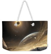 Two Persons Trying To Find Their Way Weekender Tote Bag