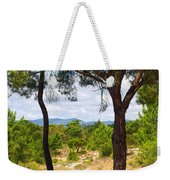 Two Pine Trees Weekender Tote Bag by Carlos Caetano
