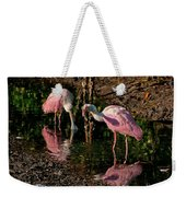 Two Pink Spoonbills Weekender Tote Bag