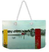 Two Poles Weekender Tote Bag by Kathy Barney