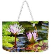 Two Purple Water Lotus Weekender Tote Bag