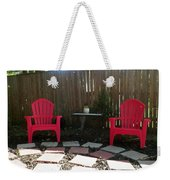 Two Red Chairs Weekender Tote Bag