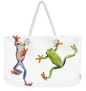 Two Red Eyed Tree Frogs Weekender Tote Bag